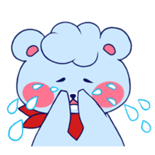 Cute and Funny Blue Bear sticker #5858644