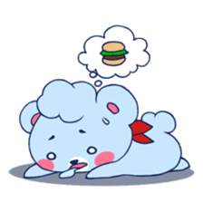 Cute and Funny Blue Bear sticker #5858645