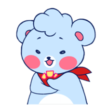 Cute and Funny Blue Bear sticker #5858647