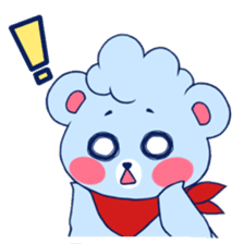 Cute and Funny Blue Bear sticker #5858648