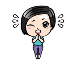 MUAY MENG   Short Hair with Daily Life sticker #5860654