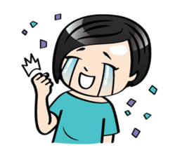 MUAY MENG   Short Hair with Daily Life sticker #5860657