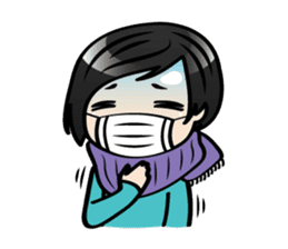 MUAY MENG   Short Hair with Daily Life sticker #5860669