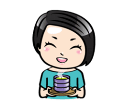 MUAY MENG   Short Hair with Daily Life sticker #5860671