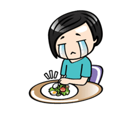 MUAY MENG   Short Hair with Daily Life sticker #5860678