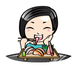 MUAY MENG   Short Hair with Daily Life sticker #5860679