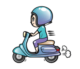 MUAY MENG   Short Hair with Daily Life sticker #5860682