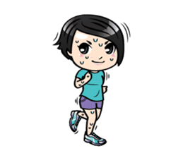 MUAY MENG   Short Hair with Daily Life sticker #5860684