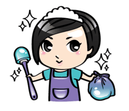 MUAY MENG   Short Hair with Daily Life sticker #5860688