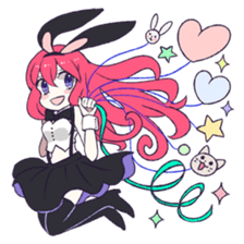 A Cute Little Rabbit Girl sticker #5860815