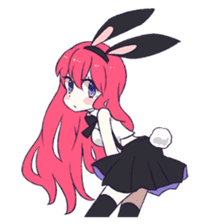 A Cute Little Rabbit Girl sticker #5860829