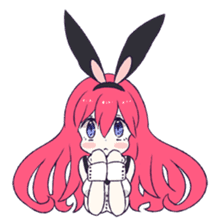 A Cute Little Rabbit Girl sticker #5860840