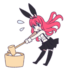 A Cute Little Rabbit Girl sticker #5860848