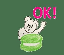 Cute(Kawaii )animals with macaroons sticker #5861290