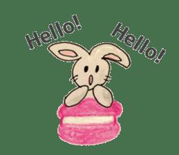 Cute(Kawaii )animals with macaroons sticker #5861292