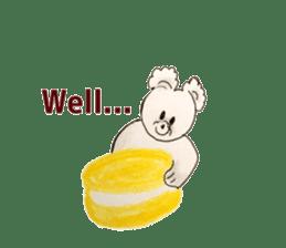 Cute(Kawaii )animals with macaroons sticker #5861293