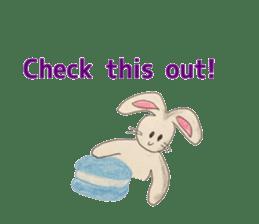 Cute(Kawaii )animals with macaroons sticker #5861295