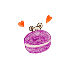 Cute(Kawaii )animals with macaroons sticker #5861296