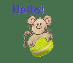 Cute(Kawaii )animals with macaroons sticker #5861297