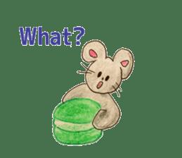 Cute(Kawaii )animals with macaroons sticker #5861298