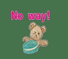 Cute(Kawaii )animals with macaroons sticker #5861301