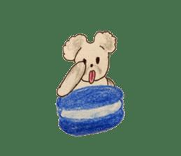 Cute(Kawaii )animals with macaroons sticker #5861303