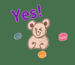 Cute(Kawaii )animals with macaroons sticker #5861304