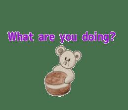 Cute(Kawaii )animals with macaroons sticker #5861309