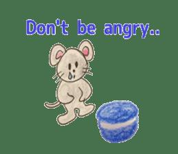 Cute(Kawaii )animals with macaroons sticker #5861311