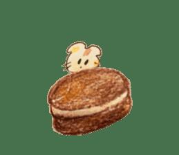 Cute(Kawaii )animals with macaroons sticker #5861313