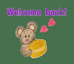 Cute(Kawaii )animals with macaroons sticker #5861314