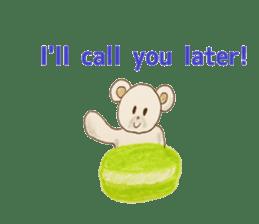 Cute(Kawaii )animals with macaroons sticker #5861325