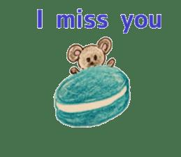 Cute(Kawaii )animals with macaroons sticker #5861326