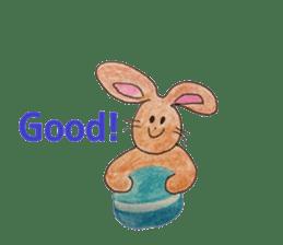 Cute(Kawaii )animals with macaroons sticker #5861328