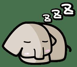 Little gray elephant sticker #5868153