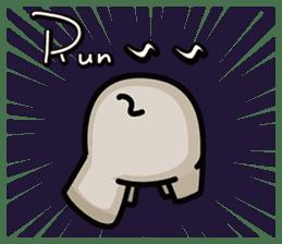 Little gray elephant sticker #5868158