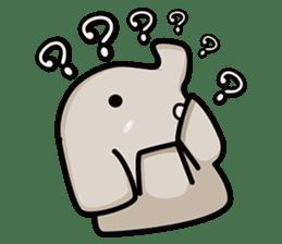 Little gray elephant sticker #5868160