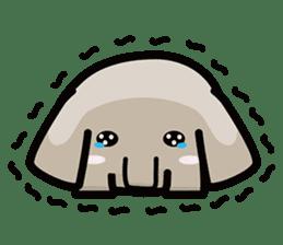 Little gray elephant sticker #5868161
