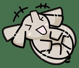 Little gray elephant sticker #5868164
