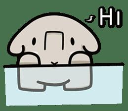Little gray elephant sticker #5868173