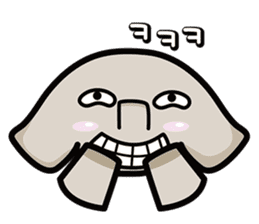 Little gray elephant sticker #5868174