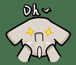Little gray elephant sticker #5868178