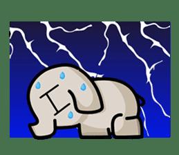 Little gray elephant sticker #5868183