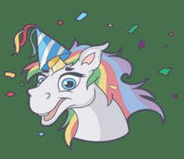 RAINBOW Unicorn ELLERY sticker #5868887