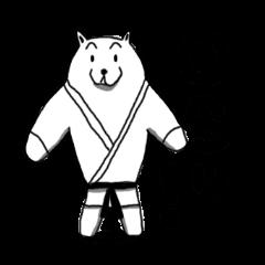 Karate White Bear