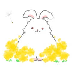 Angora rabbit of the forest of healing