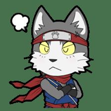 Ninja Cat HACHIWARE! sticker #5883275