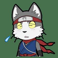 Ninja Cat HACHIWARE! sticker #5883280