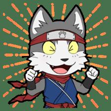 Ninja Cat HACHIWARE! sticker #5883281
