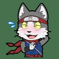 Ninja Cat HACHIWARE! sticker #5883283